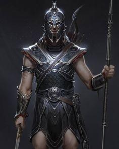 Fantasy Male, Fantasy Armor, Dark Fantasy, Dnd Characters, Fantasy Characters, Fantasy Character Design, Character Inspiration, Assassins Creed Odyssey, Assassins Creed Art