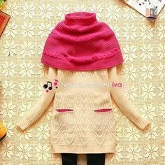 Cable-Knit Sweater with Cape
