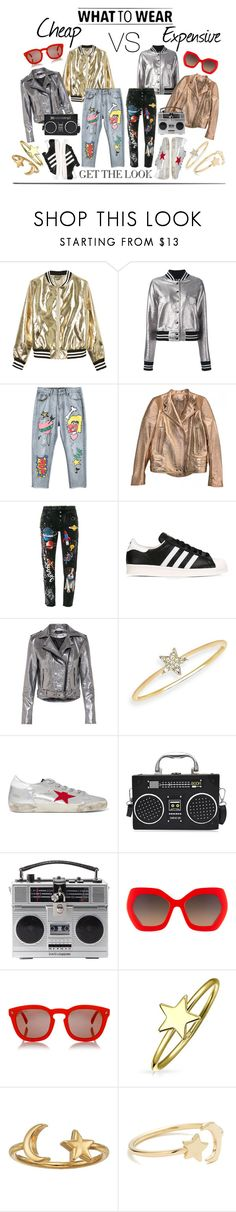 """Cheap VS Expensive Casual Look"" by madtrr on Polyvore featuring moda, Sans Souci, R13, Givenchy, Dolce&Gabbana, adidas, EF Collection, Golden Goose, Alice + Olivia e Dsquared2"