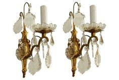 Neoclassical French Sconces, Pair