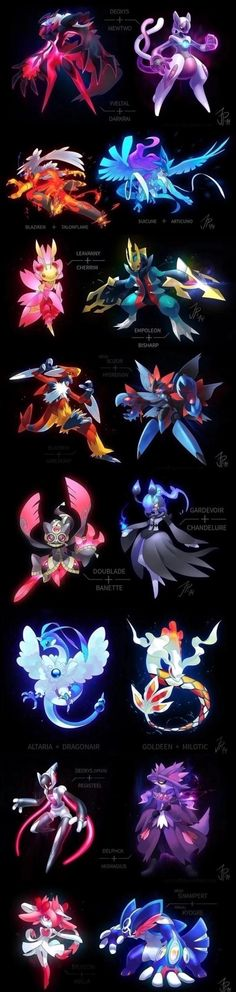These are all really awesome, but I'd like to hear everyone's top 3 faves in this pin! Mine: 1. Gardevior + Chandelure 2. Mega Scizor + Hydreigon 3. Yveltal + Darkrai
