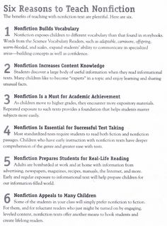 Six Reasons To Teach Nonfiction
