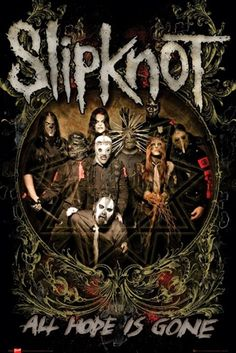 "Poster Musique SLIPKNOT ""All Hope Is Gone""  - Affiche du Quatrième Album de Slipknot ""All Hope Is Gone"" Sortie en 2008"