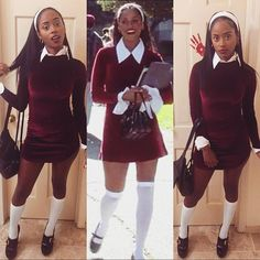 """So....this year I decided to be """"Dionne"""" from Clueless. The original Mean Girl. Did I nail it or Nah? """" Murray, I have asked you repeatedly not to call me woman!"""" - Dionne #AsIF #Whatever #Clueless #StaceyDash #Halloween2016 by @iamkarnette"""