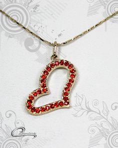 Pingente com corrente coração - Joias Carmine - exclusivas mais de 700 produtos para você escolher!