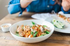 Peanut Carrot Salad with Spicy Shrimp — Be Well By Kelly
