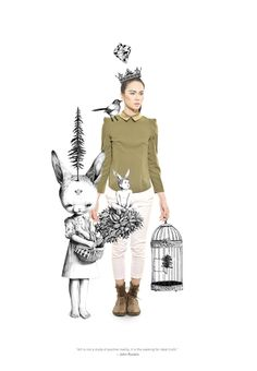 ART ATTACK by Roby Dwi Antono. #Fashion #styling - cool idea to mix fashion photography with illustration to create this look.