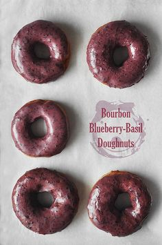 B3 Doughnuts: Bourbon Blueberry Basil - The Candid Appetite