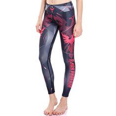 3D print dark phoenix winter warm Harajuku punk adventure time workout push up spandex plus size fitness leggings women pants