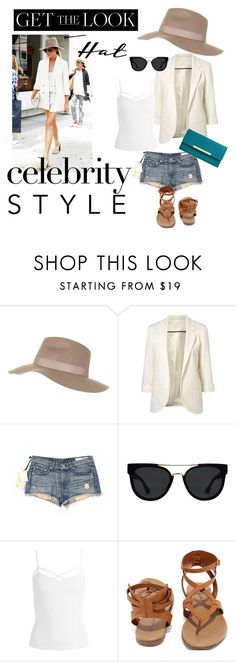 """""""Get the hat look"""" by landchatay ❤ liked on Polyvore featuring Topshop, rag & bone/JEAN, Quay, Sans Souci, Breckelle's, Merona, GetTheLook and hats"""