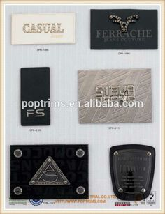 moda personalizado gravado logo patches de couro para jeans