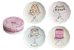 Asst of 4 Cake Dessert Plates - From The Home Decor Discovery Community at www.DecoandBloom.com