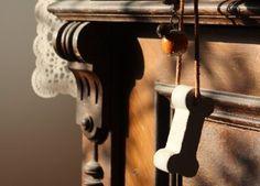 DIY Beton Knochen als Anhänger für die Vintage Kommode