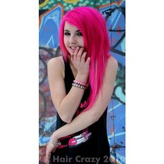 I want to dye my hair hot pink 😋 Pink Purple Hair, Hot Pink Hair, Neon Hair, Pastel Hair, Ombre Hair, Violett Hair, Catty Noir, Bright Hair, Colorful Hair