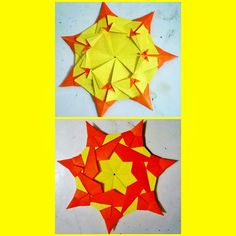 Modular Star, made with Seven Two Tone Paper....