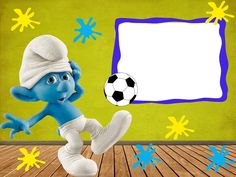 Molduras os Smurfs para montagem de fotos - Molduras para fotos Text Pictures, Free Pictures, Balloon Frame, Text Frame, Borders And Frames, Disney Characters, Fictional Characters, Balloons, Gifs