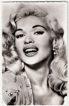 French postcard by Editions du Globe, no. 657. Photo: 20th Century Fox. Publicity still for <i>Will Success Spoil Rock Hunter?</i> (Frank Tashlin, 1957) .  Some Hollywood stars were much more popular in Europe than at home. A fabulous example is sweet <b>Jayne Mansfield</b> (1933-1967), one of Hollywood's original platinum blonde bombshells. Although most of her American films did not do much at the European box offices, Jayne herself was a sensation whenever she came to Europe to promote…