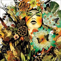 Ein wunderschönes Bild mit verschiedenen Farben und Formen