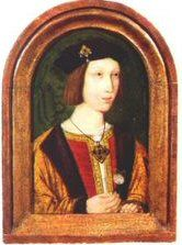 Arthur Tudor was the eldest son of King Henry VII of England and Wales, and Elizabeth of York. He was named after the legendary King Arthur of the Round Table, but is reputed to have been a sickly child. He suddenly died on April 2, 1502, at the age of fifteen. The cause of his death is unknown. It may have been tuberculosis or the mysterious sweating sickness .