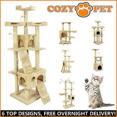 Cat tree by cozy pet #scratching post heavy duty #sisal #kitten activity center,  View more on the LINK: 	http://www.zeppy.io/product/gb/2/121764582853/