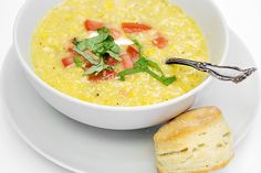 summer corn soup  --Can do this year round here in Hawaii b/c corn is year round.    (drop the sour cream garnish and it is dairy free)