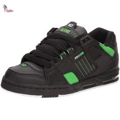 bd4071d68062 Globe Sabre Mens Leather   Suede Black Green Skate Trainers New Shoes All  Sizes