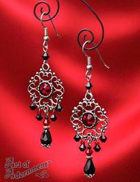 Nocturne gothic black crystal chandelier earrings chandelier sanguina baroque gothic black red chandelier earrings aloadofball Gallery