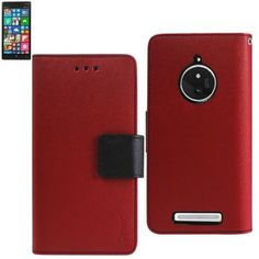 Reiko Wallet Case 3 In 1 For Nokia Lumia 830 Red With Interior Leather-Like Material And Polymer Cover