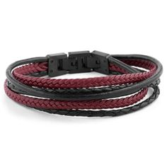 Buy Lucleon - Black & Red Roy Leather Bracelet for only Shop at Trendhim and get returns. Cowhide Leather, Leather Men, Bracelets For Men, Beaded Bracelets, Black Leather Bracelet, Leather Bracelets, Mode Mantel, Tiger Eye Bracelet, Red Tigers Eye