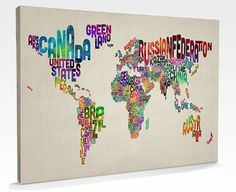 Sweet map on canvas! Making the world look good. #geography #art