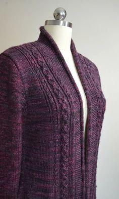 Ladies Cardigan Knitting Patterns, Knit Cardigan Pattern, Knitting Patterns Free, Knit Patterns, Dress Gloves, High Collar, Cardigans For Women, Pulls, Knit Crochet