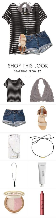 """""""my throat feels like it's burning"""" by lindsaygreys ❤ liked on Polyvore featuring H&M, Steve Madden, russell+hazel, Laundry by Shelli Segal, New Directions, Byredo, Too Faced Cosmetics and tarte"""