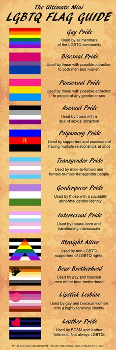 #LGBTQ flag guide. Handy reference!