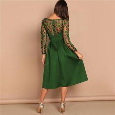 Box Pleated Dress, Satin Bodycon Dress, Satin Formal Dress, Midi Dress With Sleeves, Lace Dress, Office Dresses For Women, Mode Chic, Spandex Dress, Gala Dresses