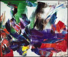 Marcelle Ferron (Canadian) - Vente en salle. Follow the biggest painting board on Pinterest: www.pinterest.com/atelierbeauvoir