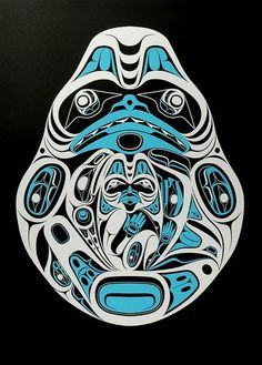 Dogfish Mother (2010) by Ernest Swanson, #artist from Haida Gwaii