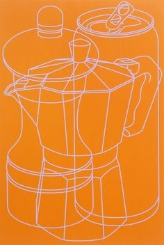 Q2 OUTLINE Michael Craig-Martin, Untitled (orange 2) on ArtStack #michael-craig-martin #art