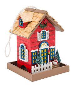 Look at this #zulilyfind! Christmas Cottage Bird Feeder #zulilyfinds