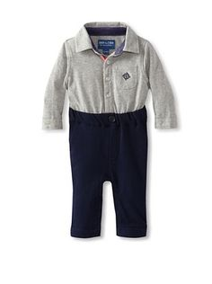 69% OFF Andy & Evan Baby-Boys Infant My 1st Andy & Evan Playsuit (Pastel Grey/Navy)