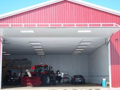To ensure he will be able to get all necessary equipment out no matter the weather this farmer stores it behind his PowerLift door. Your PowerLift door will work like a champ in any type of weather.