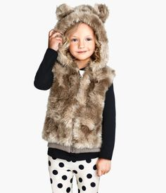 Faux Fur Bear Vest   H&M US
