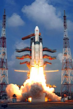 The Indian Space Research Organisation's first Geosynchronous Satellite Launch Vehicle Mark III rocket, the country's most powerful booster yet, launches on its maiden flight on Dec. 18, 2014 carrying a prototype crew capsule.<br />
