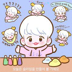 Kaisoo, Chanbaek, Exo, Baekhyun Fanart, Chibi, Hello Kitty, Sketches, Kawaii, Fan Art