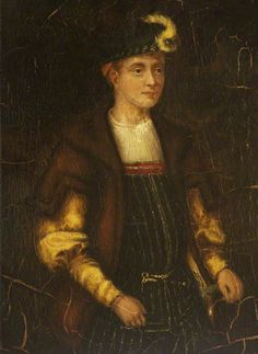 Lord Guildford Dudley, husband of Lady Jane Grey, who occupied the English throne for nine days. Executed for treason during the reign of Mary I. Guilford was the brother of Robert Dudley, favorite of Elizabeth I.