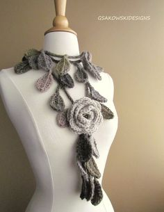Cool crocheted lariat.