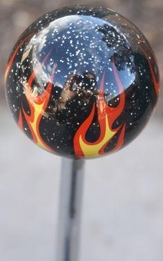 Black Glitter/Sparkle Flame Shift Knob - HouseOspeed - Hot Rod Shift Knob