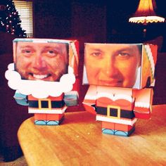 Papercraft Santas. One of our family traditions is to exchange handmade Christmas presents. These little Cubeecraft cutouts were a lot of fun, diy here: http://www.cubeecraft.com/series/christmas - Bryan Jones