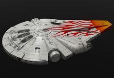 Designing Solo: A Star Wars Story, Part Making Lando's Millennium Falcon Spaceship Design, Spaceship Concept, Star Wars Ships, Star Wars Art, Star Trek, Millennium Falcon, Darth Maul Clone Wars, Darth Vader, Nave Star Wars