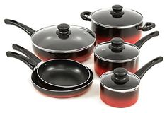 One Kings Lane - Art & Cuisine - 10-Pc Evolution Set, Red