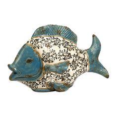 IMAX Bates Ceramic Fish Figurine